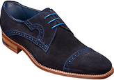 Barkers Bakers Apollo Derby Suede Brogues, Navy