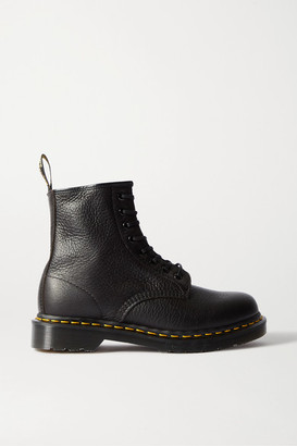 Dr. Martens 1460 Lace-up Textured-leather Ankle Boots - Black