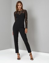 Lipsy Long Sleeve Lace Top Jumpsuit