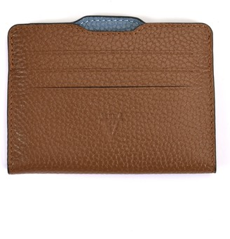 Atelier Hiva Double Card Holder Brown & Deep Blue