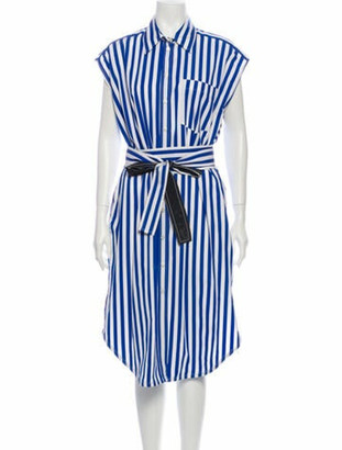 Derek Lam Striped Midi Length Dress w/ Tags Blue