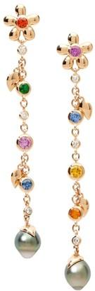 Tamara Comolli India Dream Candy 18K Rose Gold & Multi-Stone Pearl Drop Earrings