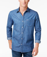 Weatherproof Vintage Men's Pattern Denim Shirt