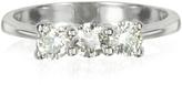 Forzieri 0.63 ctw Diamond 18K White Gold Trilogy Vanity Ring