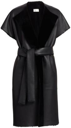 The Row Jill Reversible Shearling Wrap Coat