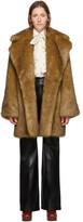 Gucci Tan Faux-Fur Coat