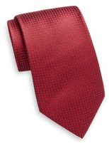 Saks Fifth Avenue Silk Square Dot Tie