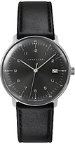 Junghans 041/4462.00 Max Bill Leather Strap Watch, Black
