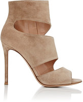 Gianvito Rossi Women's Caged Lace-Up Sandals-BEIGE