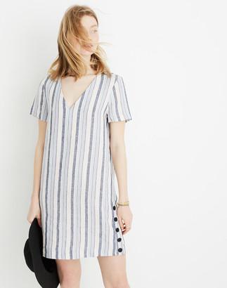 Madewell Linen Side-Button Easy Dress