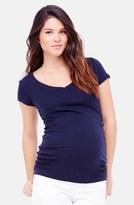 Ingrid & Isabel V-Neck Short Sleeve Maternity Tee