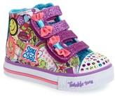 Skechers Toddler Girl's Twinkle Toes Shuffles Light-Up Sneaker