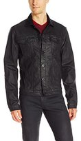 Calvin Klein Jeans Men's Denim Coated Trucker Jacket