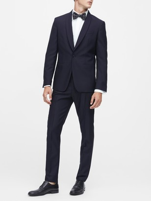 Banana Republic Slim Navy Italian Wool Tuxedo Jacket