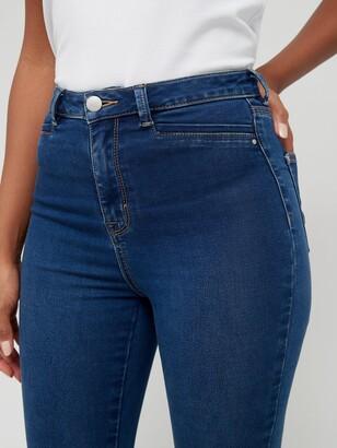 Very Addison Super High Waist Skinny Jean - Dark Wash