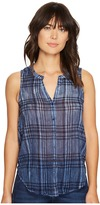 Lucky Brand Blue Yarn-Dye Shirt Women's Sleeveless