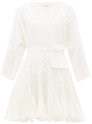 Rhode Resort Ryan Waist-pouch Broderie-anglaise Mini Dress - White