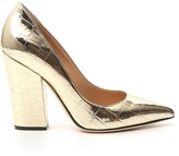 Thumbnail for your product : Sergio Rossi Metallic Effect Block Heel Pumps