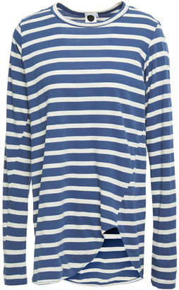 Bassike Asymmetric Striped Organic Cotton-jersey Top