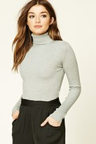 Forever 21 FOREVER 21+ Cropped Turtleneck Sweater