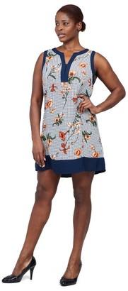 M&Co Izabel Curve floral checked shift dress