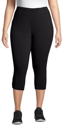 Just My Size Women's Plus Size Stretch Jersey Capri Legging