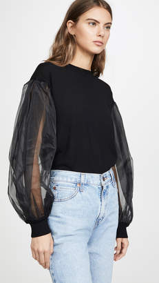 Clu Pullover with Tulle Sleeves