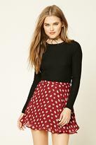 Forever 21 FOREVER 21+ Floral Daisy Mini Skirt