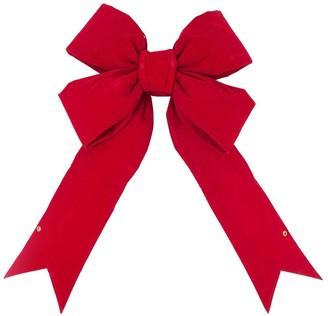 Vickerman Red Velvet 36-inch x 45-inch x 9-inch Ribbon Bow