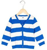 Petit Bateau Girls' Striped Button-Up Cardigan