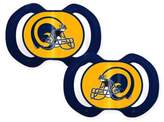 Baby Fanatic NFL Vintage Los Angeles Rams 2-Pack Pacifier
