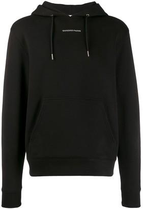 Sandro Paris contrast logo hoodie
