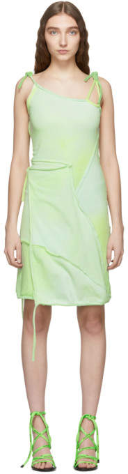 Ottolinger Green Asymmetric Strap Dress