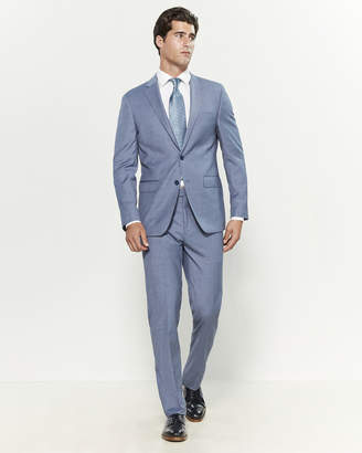 Calvin Klein Two-Piece Light Blue Sharkskin Suit