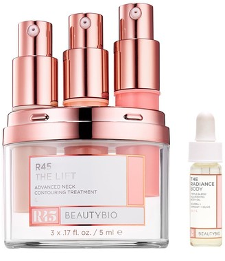 BeautyBio R45 The Lift Neck System & Radiance Body Oil Travel