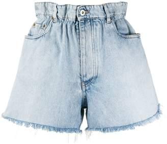 Miu Miu fringed short denim shorts