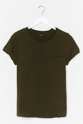 Nasty Gal Womens On Top of the World Cotton Tee - Green - S, Green