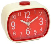 Infinity Instruments Retro Alarm Clock, Cream