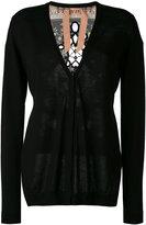 No.21 floral cutout back cardigan - women - Silk/Cotton - 48