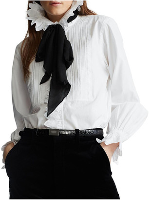 Polo Ralph Lauren Ruffle-Trim Cotton Shirt