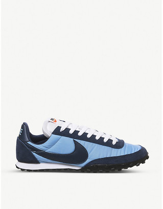 Nike Waffle Racer nylon and suede trainers
