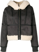 Stella McCartney faux leather shearling jacket