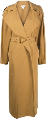 Bottega Veneta Long Belted Trench Coat