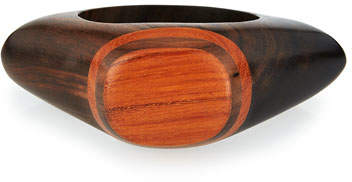 Viktoria Hayman Wooden Knuckle Bangle Bracelet