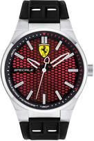 Ferrari Men's Speciale 3H Black Silicone Strap Watch 44mm 0830353