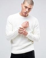 D-struct Ribbed Semi Plain Crew Neck Jumper