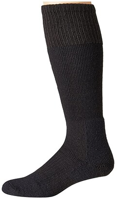 Thorlos Extreme Cold Over Calf Single Pair (Black) Crew Cut Socks Shoes