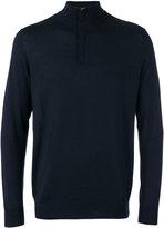 N.Peal The Regent fine gauge half zip sweater - men - Cashmere/Silk - S