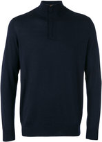 N.Peal The Regent fine gauge half zip sweater - men - Silk/Cashmere - S