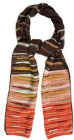 M Missoni Knit Striped Scarf